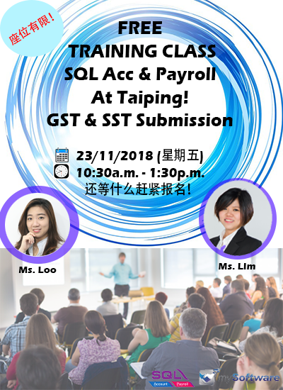 Taiping Free SQL Acc & Payroll Training Class